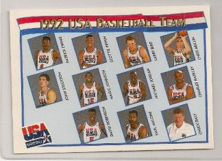 Mcdonalds 1991-92 Hoops USA Basketball Team Card