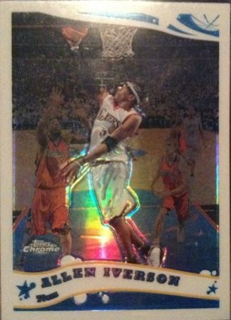 Allen Iverson 2005-06 Topps Chrome Refractor Basketball Card