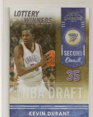 Kevin Durant 2009-10 Playoff Contenders Lottery Winners Insert