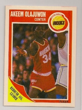 Akeem Olajuwon 1989-90 Fleer Basketball Trading Card #61