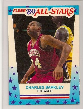 Charles Barkley 1989-90 Fleer Sticker Card #4
