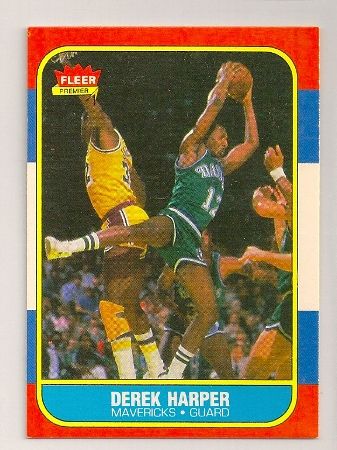 derek harper 1986-87 fleer basketball trading card