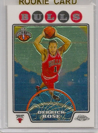 derrick rose 2008-09 topps chrome rookie card