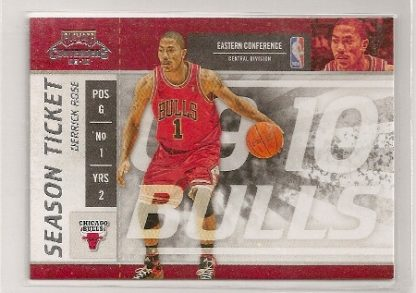 Derrick Rose 2009-10 Playoff Contenders Season Ticket Card