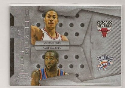 Derrick Rose/James Harden 2009-10 Contenders Round Numbers