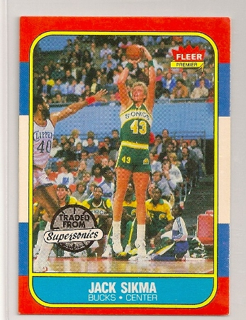 Jack Sikma 1986-87 Fleer Basketball Trading Card