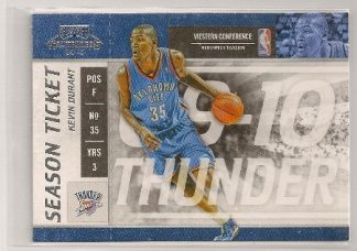 Kevin Durant 2009-10 Playoff Contenders Season Ticket Card