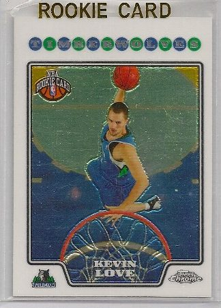 Kevin Love 2008-09 Topps Chrome rookie basketball trading card