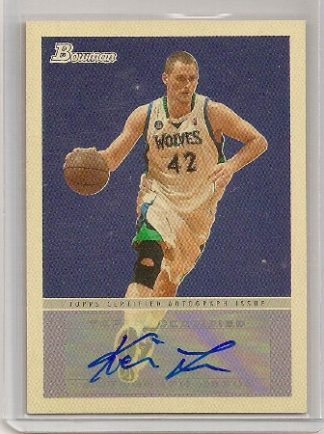 kevin love 2009-10 bowman 48 autograph card