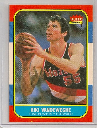 Kiki Vandeweghe 1986-87 Fleer Basketball Trading Card #117
