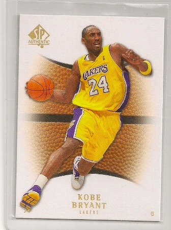 Kobe Bryant 2007-08 Upper Deck SP Authentic Card