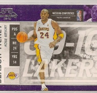 Kobe Bryant 2009-10 Playoff Contenders Season Ticket Card