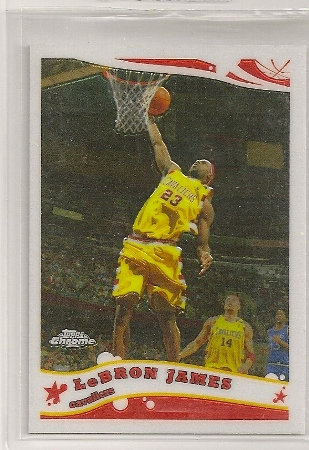 Lebron James 2005-06 Topps Chrome Card #102