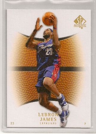 1e59a648b Lebron James 2007-08 Upper Deck SP Authentic Card