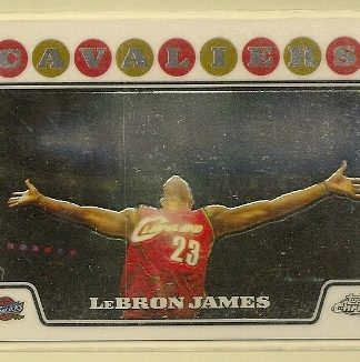 Lebron James 2008-09 Topps Chrome Basketball Trading Card #23