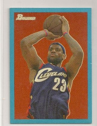 Lebron James 2009-10 Bowman '48 Blue Insert