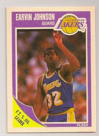 Earvin Johnson 1989-90 Fleer Basketball Trading Card #77