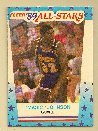 Magic Johnson 1989 90 Fleer Sticker Card 5