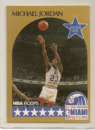 Michael Jordan 1990-91 Hoops All Star Basketball Card