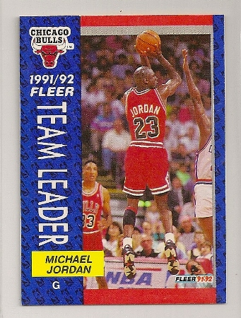 Michael Jordan 1991-92 Fleer Team Leaders Basketball Trading Card