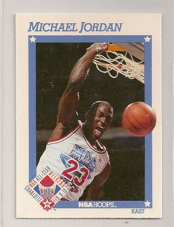 Michael Jordan 1991-92 Hoops All-Star Basketball Card
