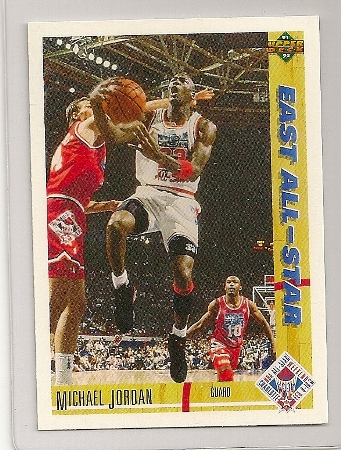 Michael Jordan 1991-92 Upper Deck East All Star Card