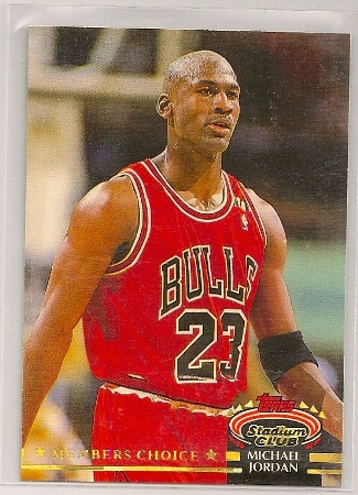 michael jordan 1992-93 topps stadium club