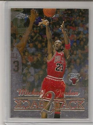 Michael Jordan 1998-99 Topps Chrome Back 2 Back Basketball Card