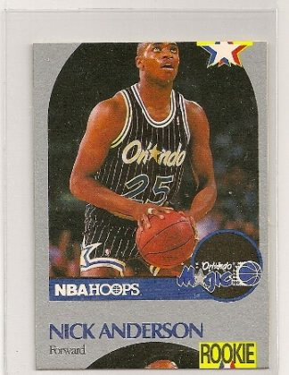 Nick Anderson 1990-91 Hoops Miscut Error Card