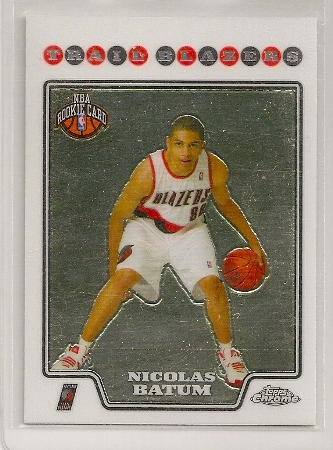 Nicolas Batum 2008-09 Topps Chrome Rookie Card #218
