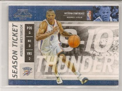 Russell Westbrook 2009-10 Playoff Contenders Season Ticket Card