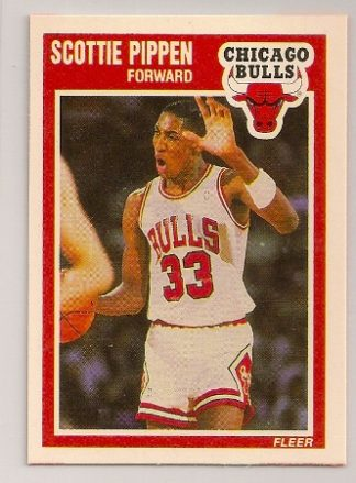 Scottie Pippen 1989-90 Fleer Basketball Trading Card #23