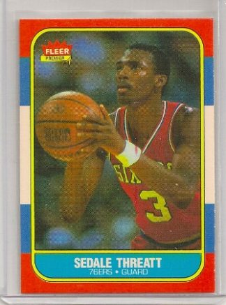 Sedale Threatt 1986-87 Fleer Basketball Trading Card #112