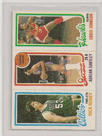 1980-81 Topps Three Panel Adrian Dantley Card #234