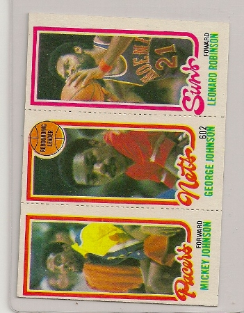 1980-81 Topps Three Panel George Johnson Card