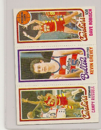 1980-81 Topps Three Panel Campy Russell Card