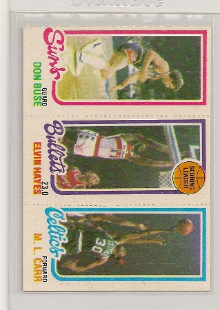 Elvin Hayes 1980-81 Topps Three Panel Maurice Cheeks Card #242