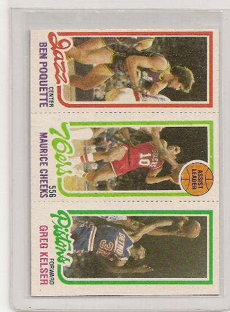 1980-81 Topps Three Panel Maurice Cheeks Card #176