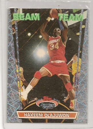 1992-93 Topps Stadium Club Beam Team Hakeem Olajuwon Insert Card
