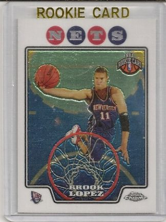 2008-09 Topps Chrome Brook Lopez Rookie Card