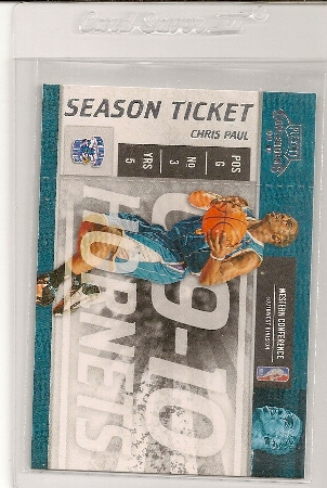 Chris Paul 2009-10 Playoff Contenders Season Ticket Card