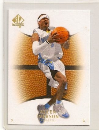 Allen Iverson 2007-08 Upper Deck SP Authentic Base Card #66