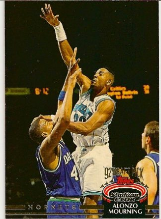 Alonzo Mourning 1992-93 Stadium Club Rookie Card