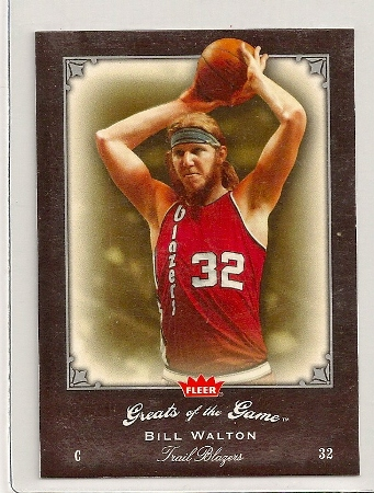 Bill Walton 2005-06 Fleer Greats of The Game Card #14