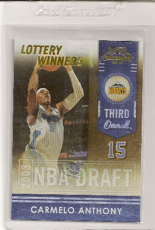 2009-10 Playoff Contenders Lottery Winners Carmelo Anthony Insert Card