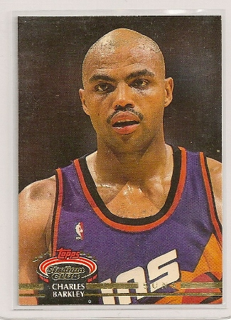 Charles Barkley 1992-93 Topps Stadium Club Card #360