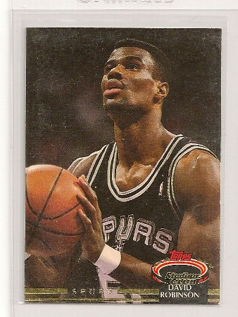 David Robinson 1992 93 Topps Stadium Club Card 361