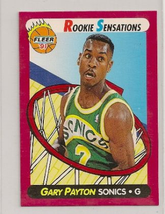 Gary Payton 1991-92 Fleer Rookie Sensations Card