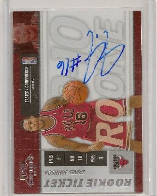 James Johnson 2009-10 Playoff Contenders Rookie Ticket Auto Card