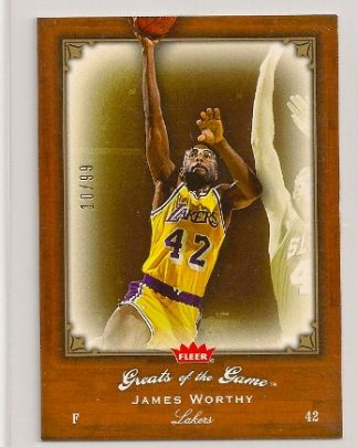James Worthy 2005-06 Fleer Greats of The Game Insert Card